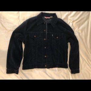Levi's Vintage RARE Blue Corduroy Trucker Jacket